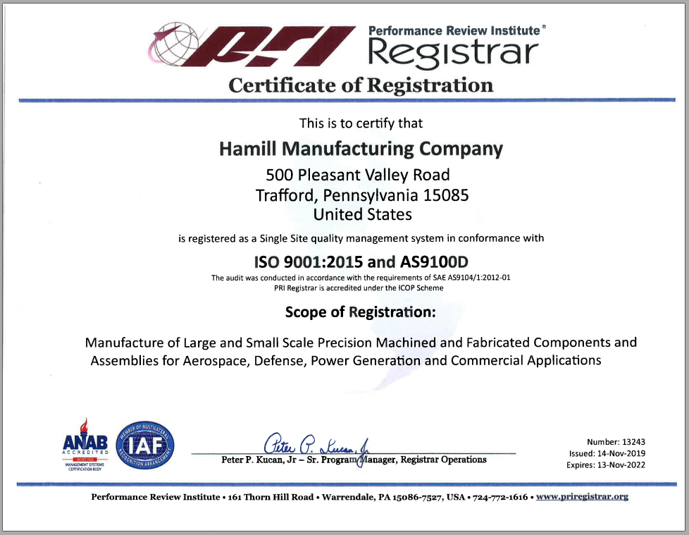 itar certifications registered